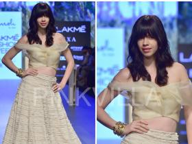 Celebrity Style,Kalki Koechlin,lakme fashion week,Amoh by Jade