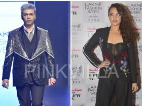 Celebrity Style,sonakshi sinha,lakme fashion week,karan johar,falguni and shane peacock