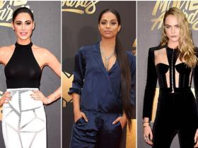 nargis fakhri,Best Dressed,cara delevingne,MTV Movie Awards 2016,gigi hadid,lily singh,charlize theron